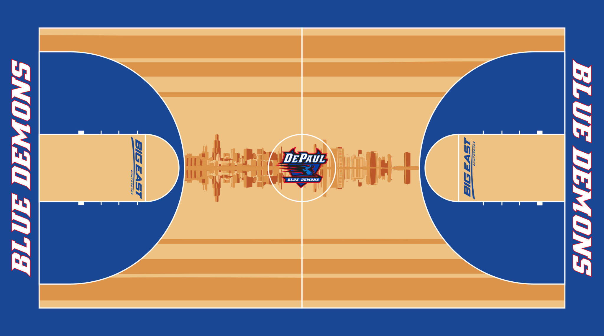 DePaul Men's Basketball Court for McCormick Place Designs